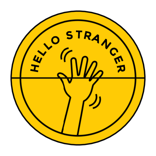 """Hello Stranger"" Envelope Seal Labels pre-designed label template for OL158"