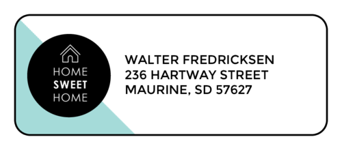 "OL875 - 2.625"" x 1"" - ""Home Sweet Home"" Address Labels"