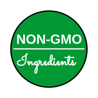 NON-GMO Ingredients Circle Label pre-designed label template for OL1245