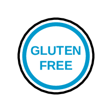 Gluten Free Circle Label pre-designed label template for OL32