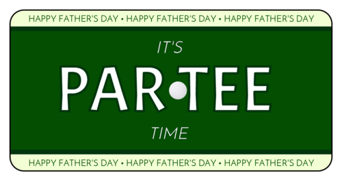 """OL125 - 4"""" x 2"""" - Father's Day Golfing Beer Label"""