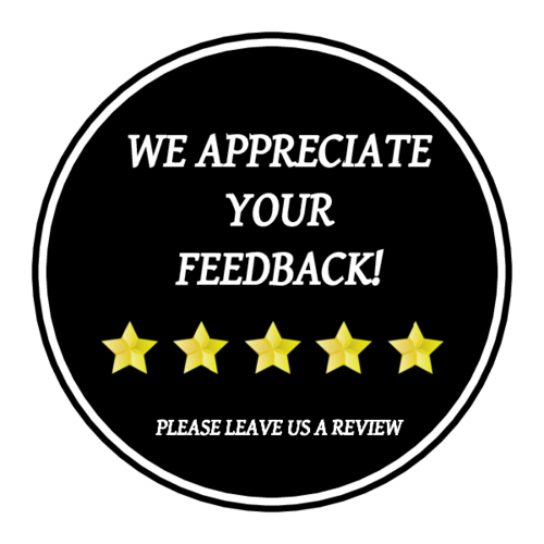 "OL914 - 1.75"" Circle - We Appreciate Your Feedback Label"
