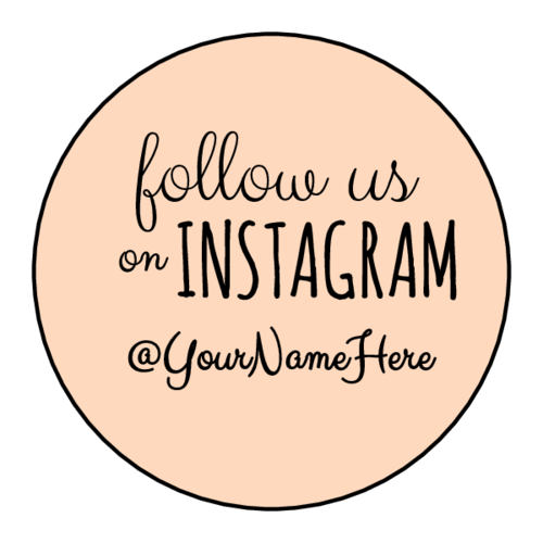 """Follow Us on Instagram"" Circle Labels pre-designed label template for OL914"
