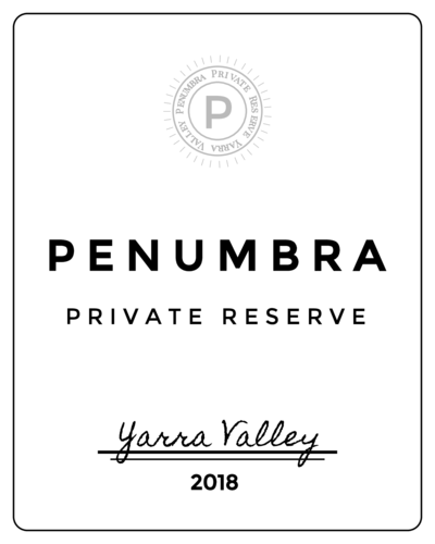 Formal wine label template.