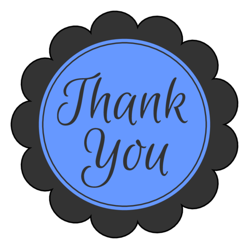 """Thank You"" Scalloped Labels pre-designed label template for OL1027"
