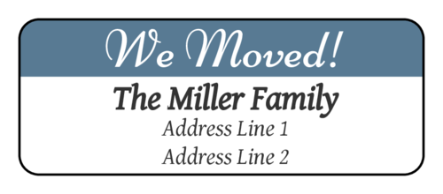 "OL875 - 2.625"" x 1"" - ""We Moved"" Return Address Labels"