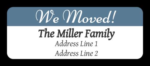 """OL875 - 2.625"""" x 1"""" - """"We Moved"""" Return Address Labels"""