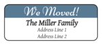 """We Moved"" Return Address Labels"