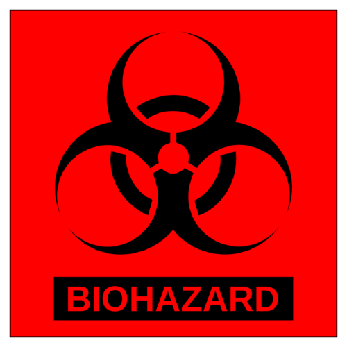 "OL3027 - 4"" x 4"" Square - Square Biohazard Labels"