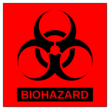 Square Biohazard Labels