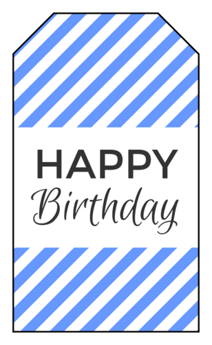 "OL1763 - 1.75"" x 3"" - ""Happy Birthday"" Gift Tag Labels"