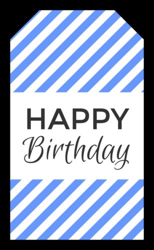 "OL1763 - 1.75"" x 3"" - ""Happy Birthday"" Gift Tag Labels"