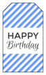 """Happy Birthday"" Gift Tag Labels"