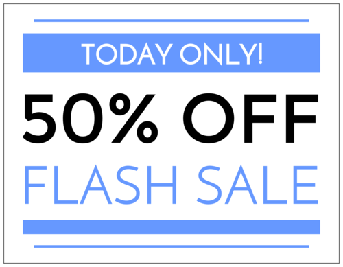 "OL175 - 8.5"" x 11"" - ""Flash Sale"" Full Sheet Labels"