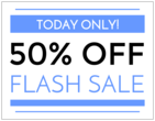 """Flash Sale"" Full Sheet Labels"