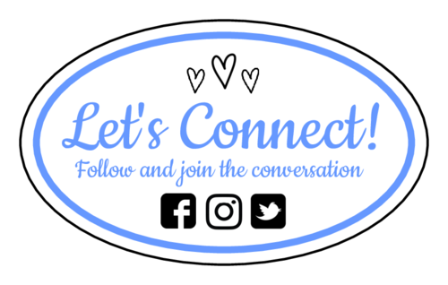 "OL2684 - 2.5"" x 1.5"" Oval - ""Let's Connect!"" Social Media Oval Labels"