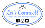 """Let's Connect!"" Social Media Oval Labels"