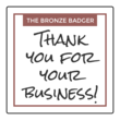 """Thank You for Your Business!"" Square Labels"