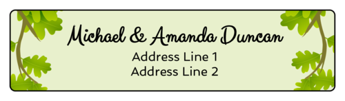 Enchanted Forest Address Labels pre-designed label template for OL75