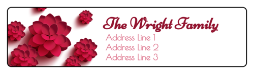 "OL75 - 4"" x 1"" - Pink Blossoms Address Labels"