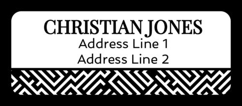 "OL875 - 2.625"" x 1"" - Maze Pattern Address Labels"