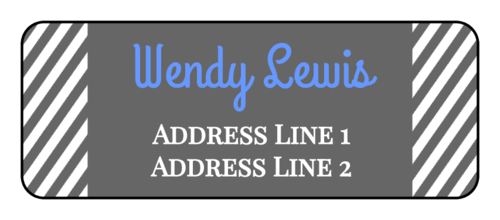 "OL875 - 2.625"" x 1"" - Striped Address Labels"