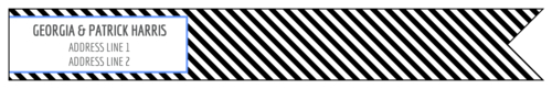"OL1758 - 7.5"" x 1"" - Striped Wrap Around Address Labels"