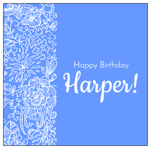 "OL685 - 5.3125"" x 5.25"" - Wrap-Around Birthday Candy Bar Labels"