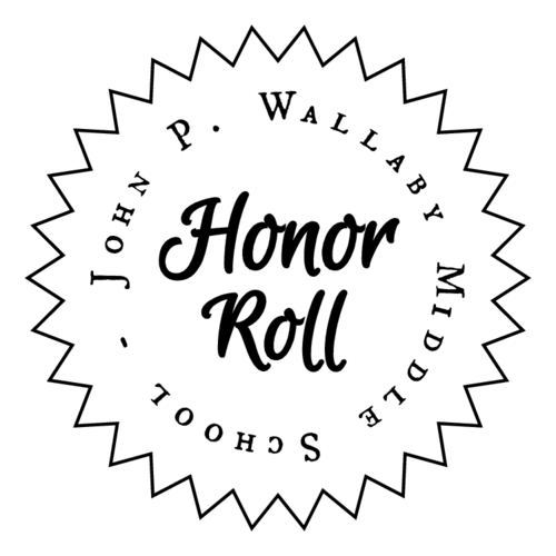 School Honor Roll Starbust Labels pre-designed label template for OL138