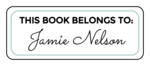 """This Book Belongs To"" Bookplate Labels"