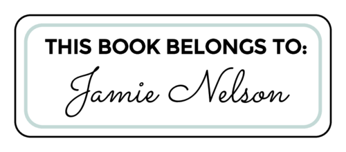Fancy name bookplate label template, free download