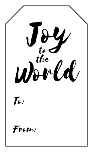 "OL1763 - 1.75"" x 3"" - ""Joy to the World"" Gift Tag Labels"