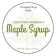 Maple Syrup Circle Labels
