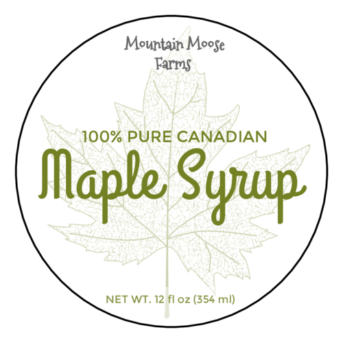 "OL350 - 2.5"" Circle - Maple Syrup Circle Labels"