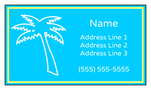 "OL244 - 3.5"" x 2"" - Tropical Palm Tree Luggage Cardstock Tags"