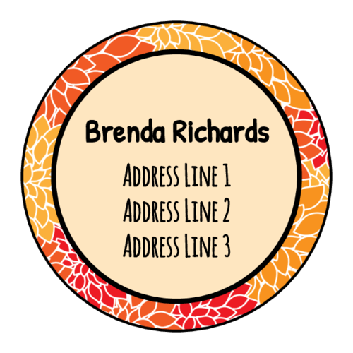 "OL914 - 1.75"" Circle - Chic Round Address Labels"