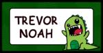 Children\'s Dinosaur Themed Pencil Box Label