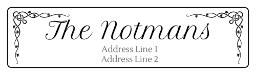 "OL75 - 4"" x 1"" - Celtic Vine Address Labels"