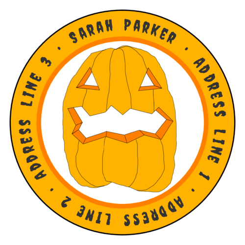 Jack-o-Lantern Address Labels pre-designed label template for OL224