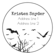 Spooky Forest Address Labels