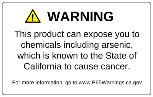 Proposition 65 Warning Labels pre-designed label template for OL131