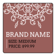 Square Geometric Price Tag Labels