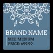 Square Geometric Price Tag Labels