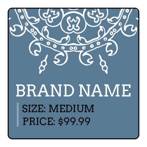 Square Geometric Price Tag Labels pre-designed label template for OL330