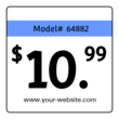Basic Square Price Tag Labels
