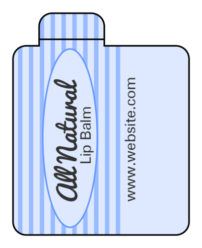 "OL2162 - 1.6875"" x 2.125"" - Striped Lip Balm Labels with Quality Seal"
