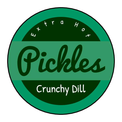 Pickle Jar Circle Labels pre-designed label template for OL914