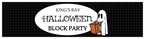 Halloween Block Party Water Bottle Labels pre-designed label template for OL1159