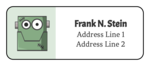 Frankenstein Address Labels