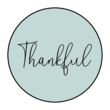 """Thankful"" Circle Labels"